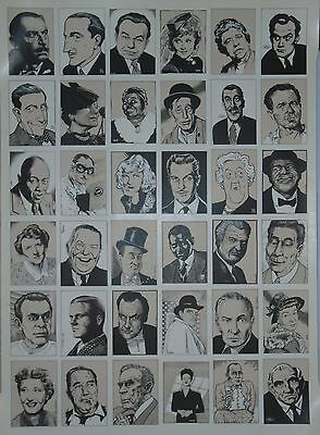 CIGARETTE CARD STYLE POSTER=BASIL RATHBONE/VINCENT PRICE/MARGARET RUTHERFORD etc