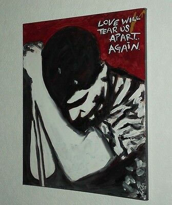 JOY DIVISION, IAN CURTIS  . HAND PAINTED canvas 20 X 16  INS..READY TO HANG