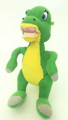 Toy Network Land Before Time Ducky Plush Dinosaur Green Yellow 13""