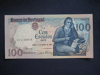 PORTUGAL 1980-89 ISSUE - 100 ESCUDOS - 12.03.1985 - P178d -  UNCIRCULATED