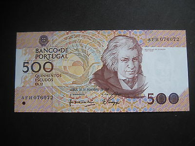 PORTUGAL 1980-89 ISSUE - 500 ESCUDOS - 20.11.1987 - P180a -1 of 8-  UNCIRCULATED