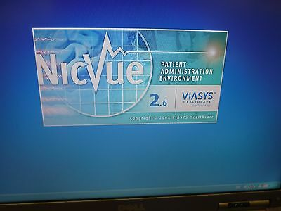 Viasys NIC VUE LAPTOPP WITH NicoletOne EEG NIC 36 amplifier 00733