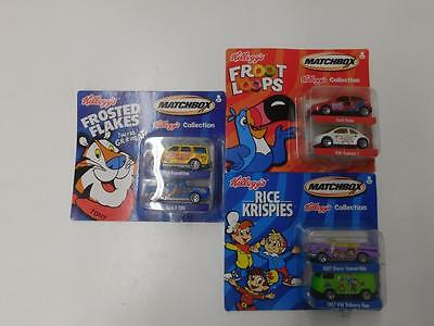 Matchbox 2001 KELLOGGS SET OF FROSTED FLAKES FROOT LOOPS, RICE KRISPIES  25172