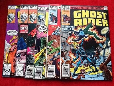 Ghost Rider #36,39-43, Marvel - 1979 - VFN/NM - Pence Issue