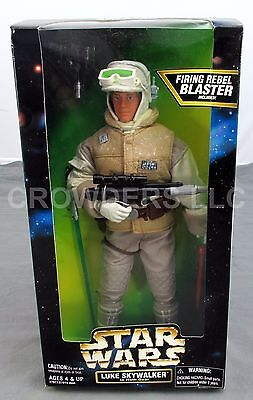"Star Wars Action Collection 12"" Rebel Luke Skywalker in Hoth Gear Kenner '97 NIB"