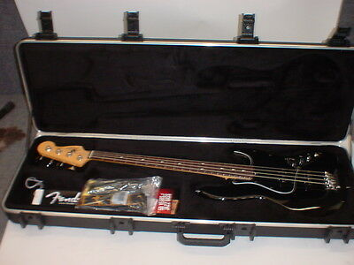 Fender American Standard Jazz Bass Black INCLUDES STRAP CABLE CASE CANDY