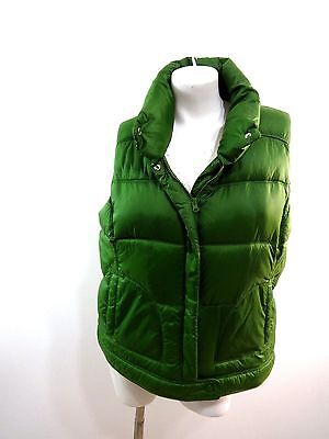 Old Navy Womens Green Polyester Fleece Lined Puffer Vest Size Xl Super Cute!