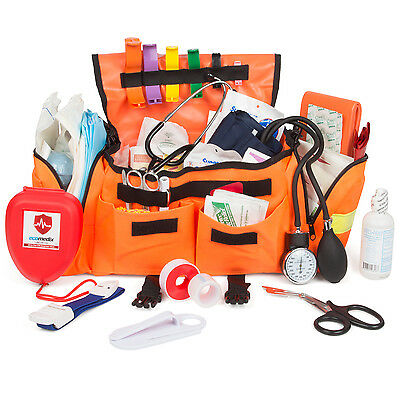 EcoMeix First Responder Emergency Trauma Kit Fully Stocked With Medical Supplies