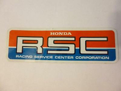 RSC Sticker Decal Team Honda Racing Motorcycle Vintage Racing Service Center Lg