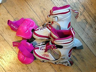 ANNIKA Girl's adjustable size in-line roller skates. UK size 13 – 4.