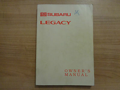 Subaru Legacy Owners Handbook/Manual 93-98
