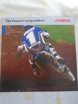 Yamaha Off Road Competition brochure 2004