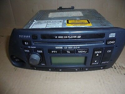 Ford 6006E Radio Stereo Cd Player With Code