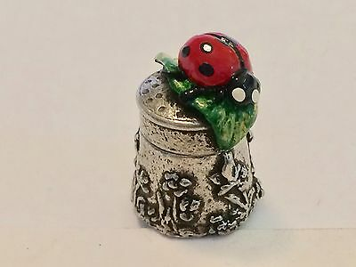 "A Delightful and Charming Hand Painted Pewter Thimble of a ""Ladybird"""