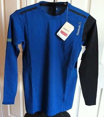 New Reebok Playice Compression Crossfit Long Sleeve Shirt Mens! Medium! $45!