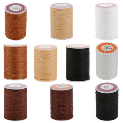 0.55/0.6mm Polyester Waxed Line Leather Craft Sewing Wax Thread Cord (Black)