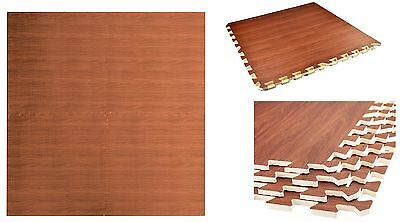 Wood Effect Eva Interlocking Soft Foam Mat Laminate Flooring Tiles Kids Play Mat