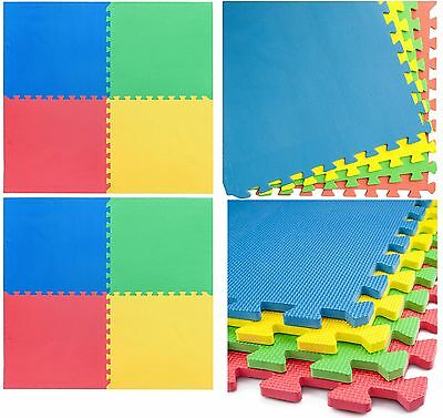 Multicolour Eva Interlocking Soft Foam Mat Flooring Tiles Kids Play Mat Cushion