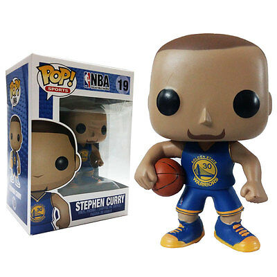 Lakers Nba/ Funko Pop Stephen Curry Blue Jersey #19  In Box