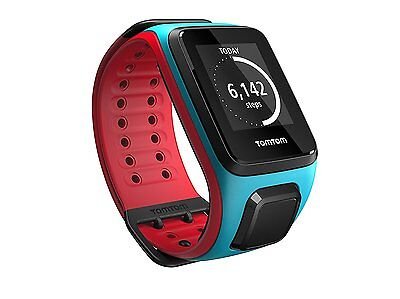 TomTom Runner 2 GPS Watch with Music Large Strap Scuba Blue/Red