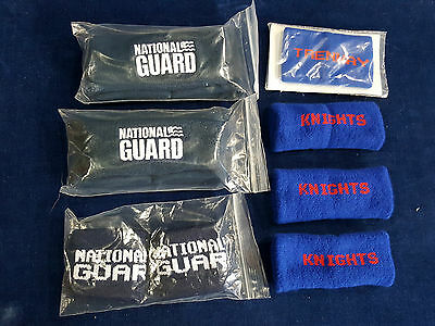 lot of vintage Trenway wrist sweat bands and headbands National Guard Knights