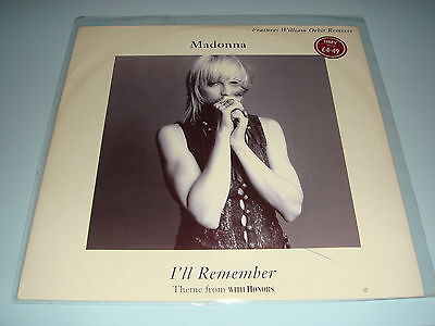Madonna - I'll Remember Theme From 'With Honors' - Sire Europe 1994 - VG Cond
