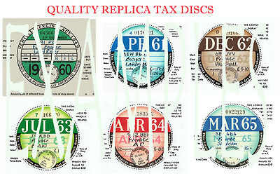 Tax Discs' 4 Quality Replicas^ For  Discerning Owners.all Years From 1921-2020: