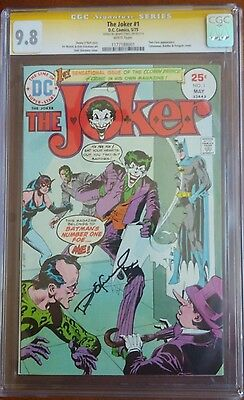 The Joker #1(1975) 9.8 white pages SS signed by Denny O'neal