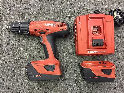 Hilti SFH 18-A Hammer Drill Driver cordless 18V 2 Batteries and Charge