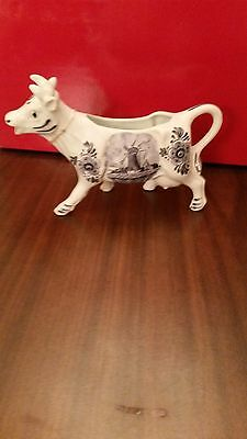 Vintage Cow Creamer Blue & White Delft Made in Holland
