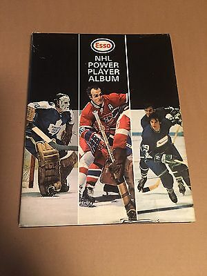 1970-71 ESSO NHL POWER PLAYER SAVER HARD COVER ALBUM COMPLETE w/252 STAMPS+COVR