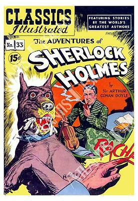 Adventures of Sherlock Holmes Vintage Comic Fridge Magnet 2 x 3