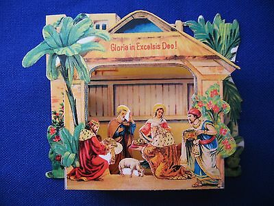 Collectible Religious Christmas Bethlehem Pop-Up NATIVITY SCENE TABLEAU