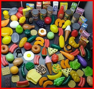 ⭐️Childrens Pretend Play Food Set 120 Pieces Toy Shopping Role Pre-School NEW⭐