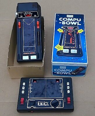 Blip by Tomy 1977 & Sears Compu-Bowl by Tomy 1979 Boxed Both Partially Work
