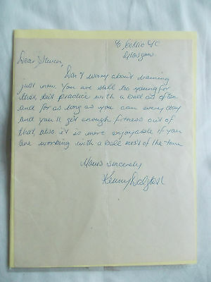 Kenny Dalglish hand signed written letter Liverpool Celtic page