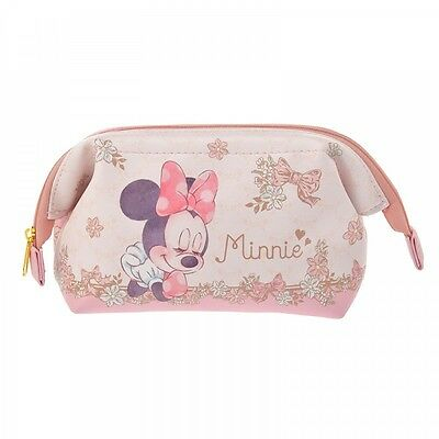 Disney Store Japan Minnie Mouse Dream Pink Small Makeup Bag Pouch w/ Zipper