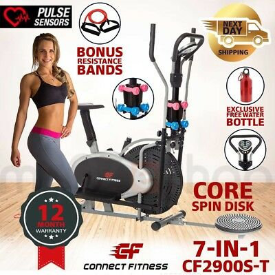 CONNECT FITNESS 7in1 Elliptical Cross Trainer & Exercise Bike Home Gym Equipment