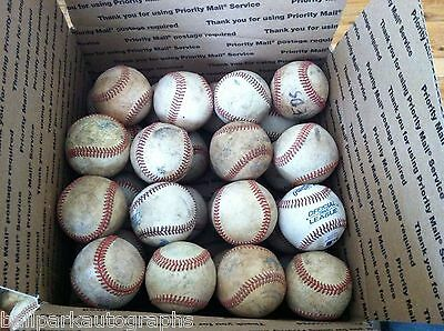 Lot of 32 well Used Baseballs Perfect for Little League Batting Practice Balls