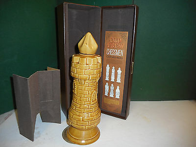 VTG OLD CROW CASTLE/Tower Rook DECANTER w/BOX 1960's