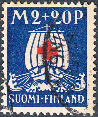 Finland 1930 2Mk+20p Red Cross Fund Used