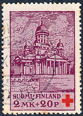 Finland 1932 2Mk+20p Red Cross Fund Used