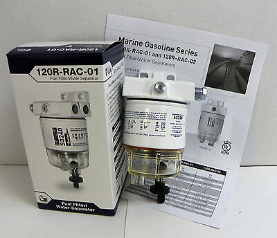 Genuine Racor 120R-Rac-01 Marine Spin-On Fuel Filter / Water Separator (1 Unit)