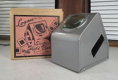 Vintage Logan Magna View Electric Slide Viewer Comes in original box hammerite