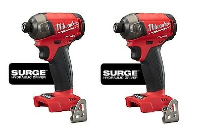 LOT OF 2 MILWAUKEE 2760-20 M18™ FUEL™ SURGE 1/4 In. Hex Hydraulic Impact Drivers