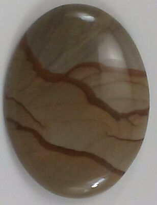Owyhee Picture Jasper Cabochon Great Wire Wrapping Pendant Necklace Polished Cab
