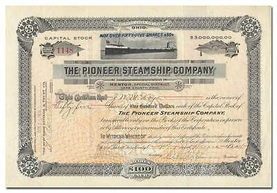 Pioneer Steamship Company Stock Certificate