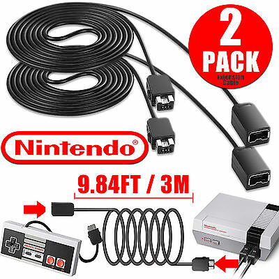 2x 1x 10ft Extension Cable Cord for Nintendo NES Mini Classic Edition Controller