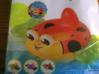 "Polygroup Summer Escapes 40""x25"" Ladybug Baby Buggy Pool Water Float Inflatable"