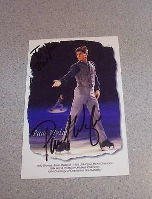 Paul Wylie Signed Olympic Skater Postcard Photo Autograph